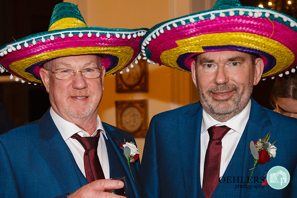 guests wearing sombreros