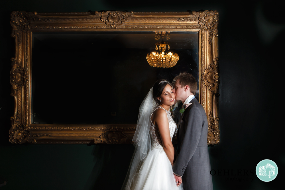 Indoor shot of Bride and Groom