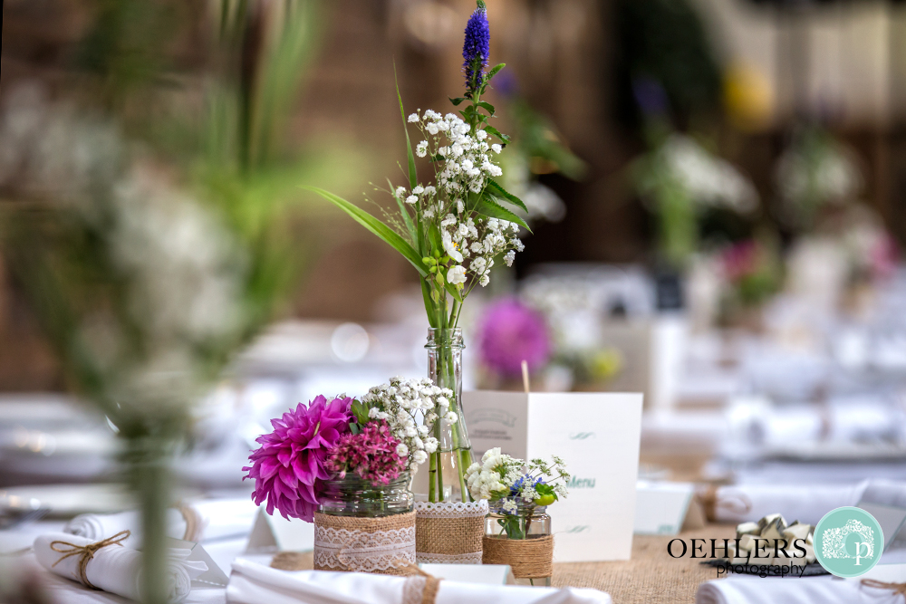 simple flower arrangement on the table
