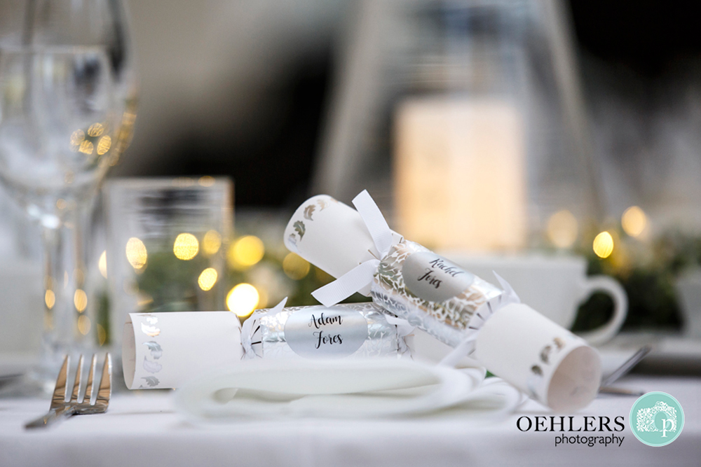 personalised christmas crackers as place names