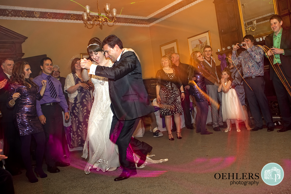 Bride and Groom enjoying their dance