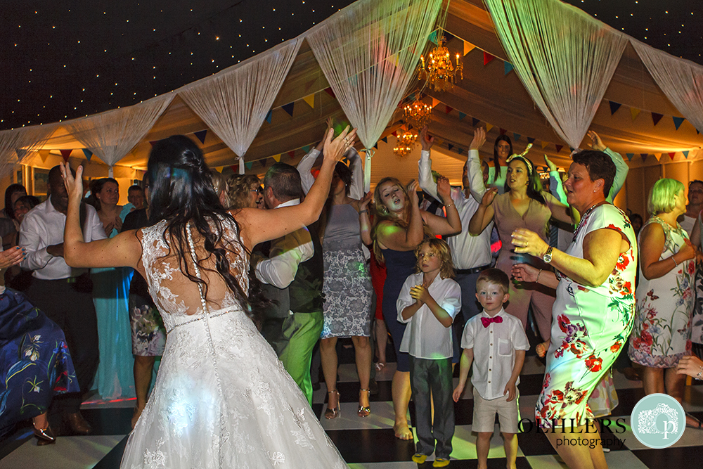 Bride enjoying the dancing