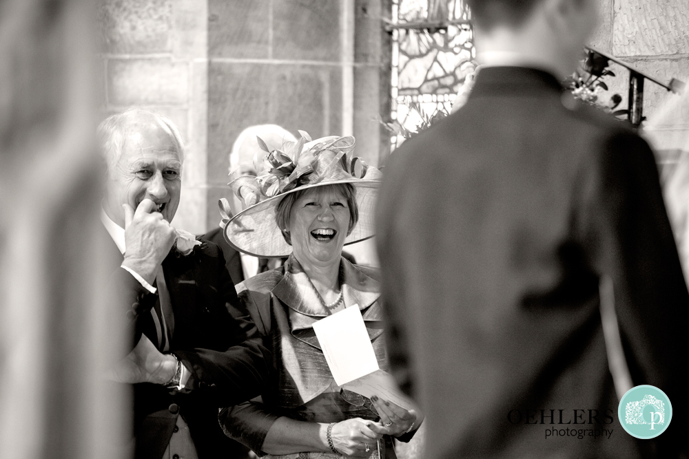 happy parents at the ceremony