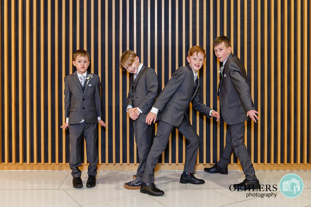Young boys posing