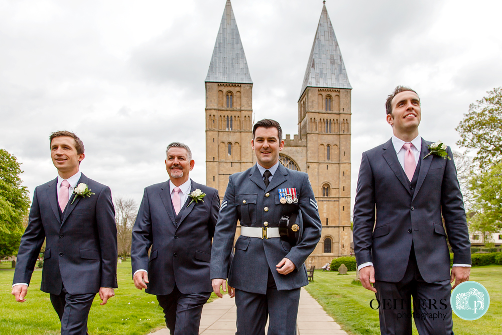 Groom and Groomsmen in Southwell