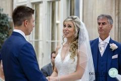 bride emotional saying vows
