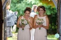 bridesmaids entrance into the church