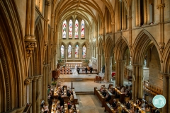 kneeling at the altar of Southwell Minster