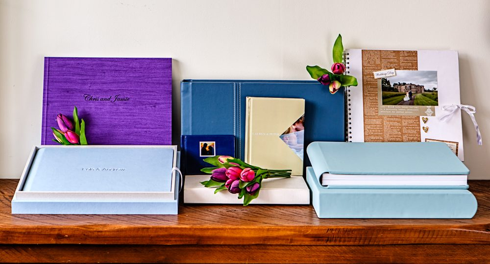 Photo of various albums and products