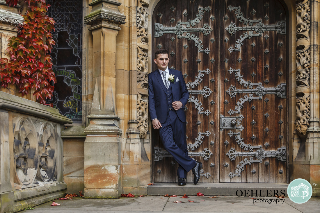 Groom portrait Oehlers Photography Yorkshire