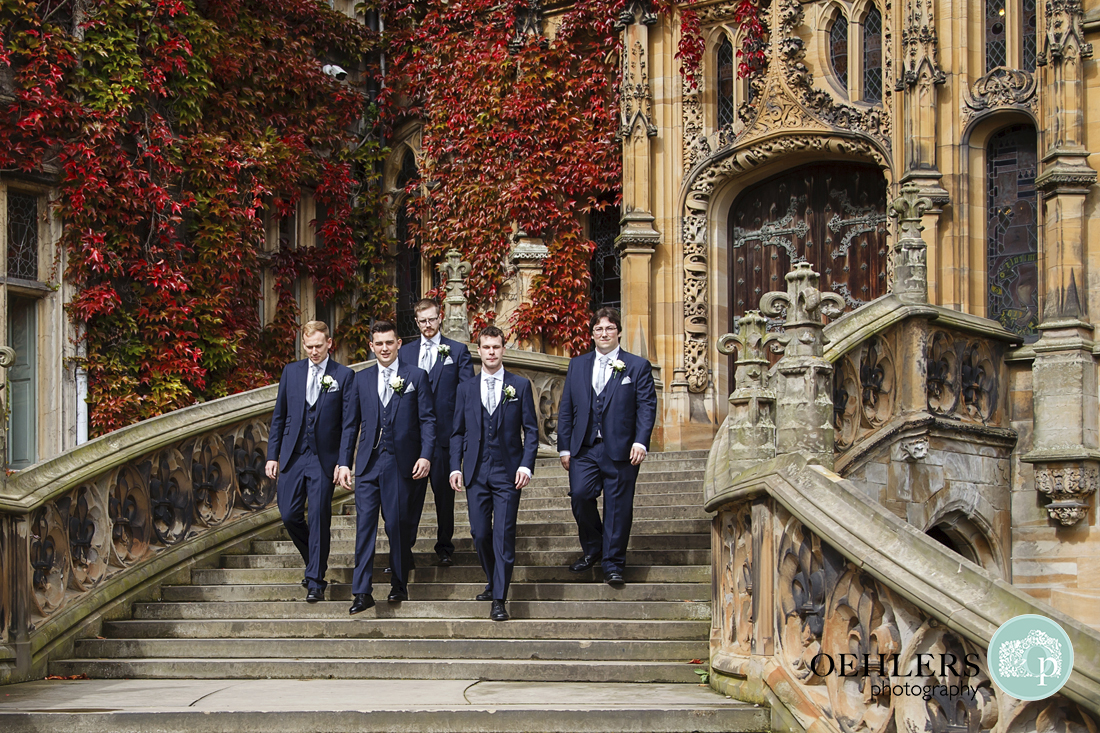 Groomsmen portrait September wedding Yorkshire
