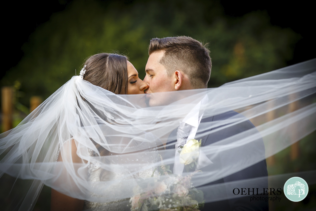 Wedding veil Oehlers Photography Carlton Towers