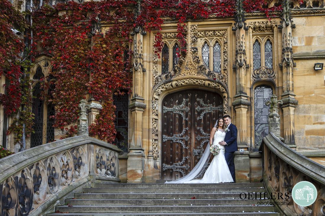 Bride and groom portrait Carlton Towers wedding