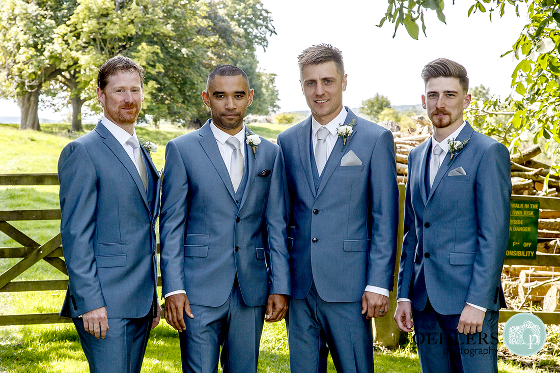 A group photo of Groom with Groomsmen