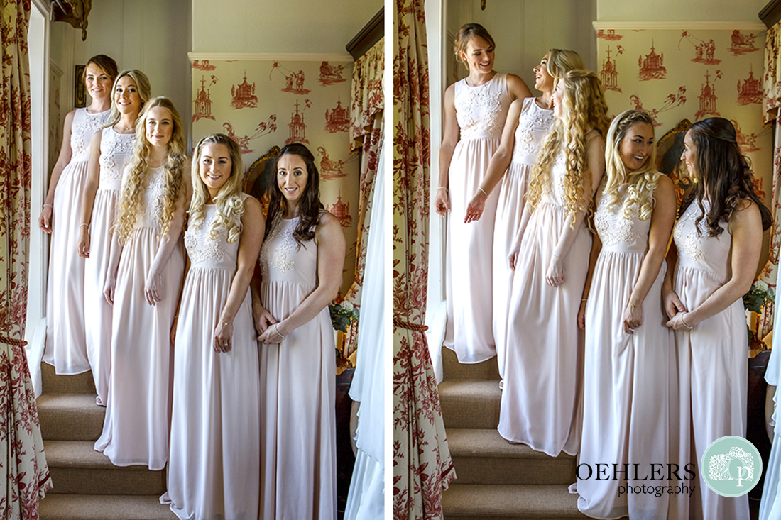Group photos of Bridesmaids
