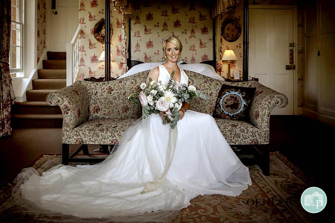 Photo of the Bride seated