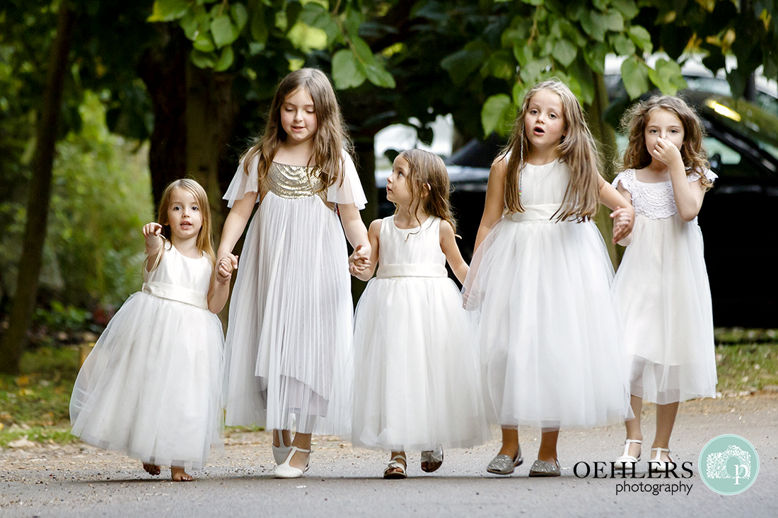 Flowergirls with their friends