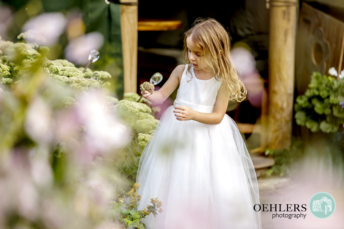 Inquisitive flower girl