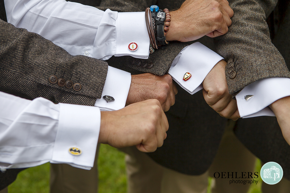 All the Groomsmen's cufflinks