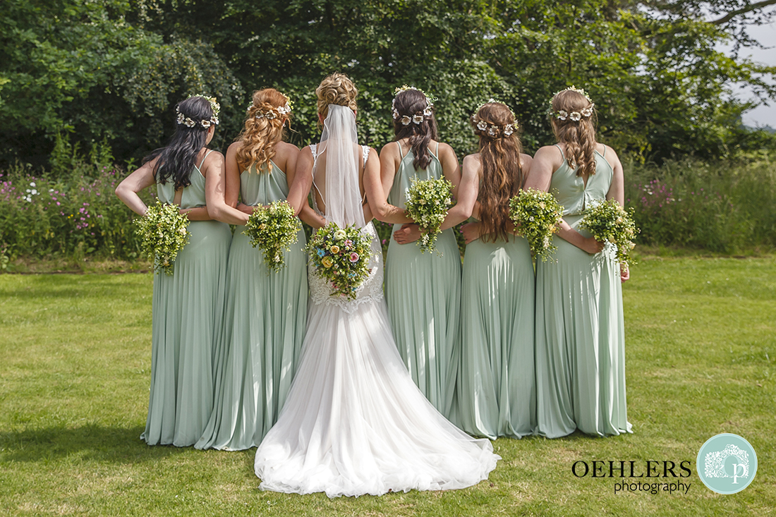 Beautiful image of Bride and Bridesmaids