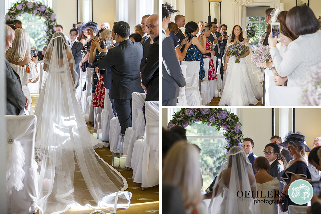 Images of Bride walking down the aisle