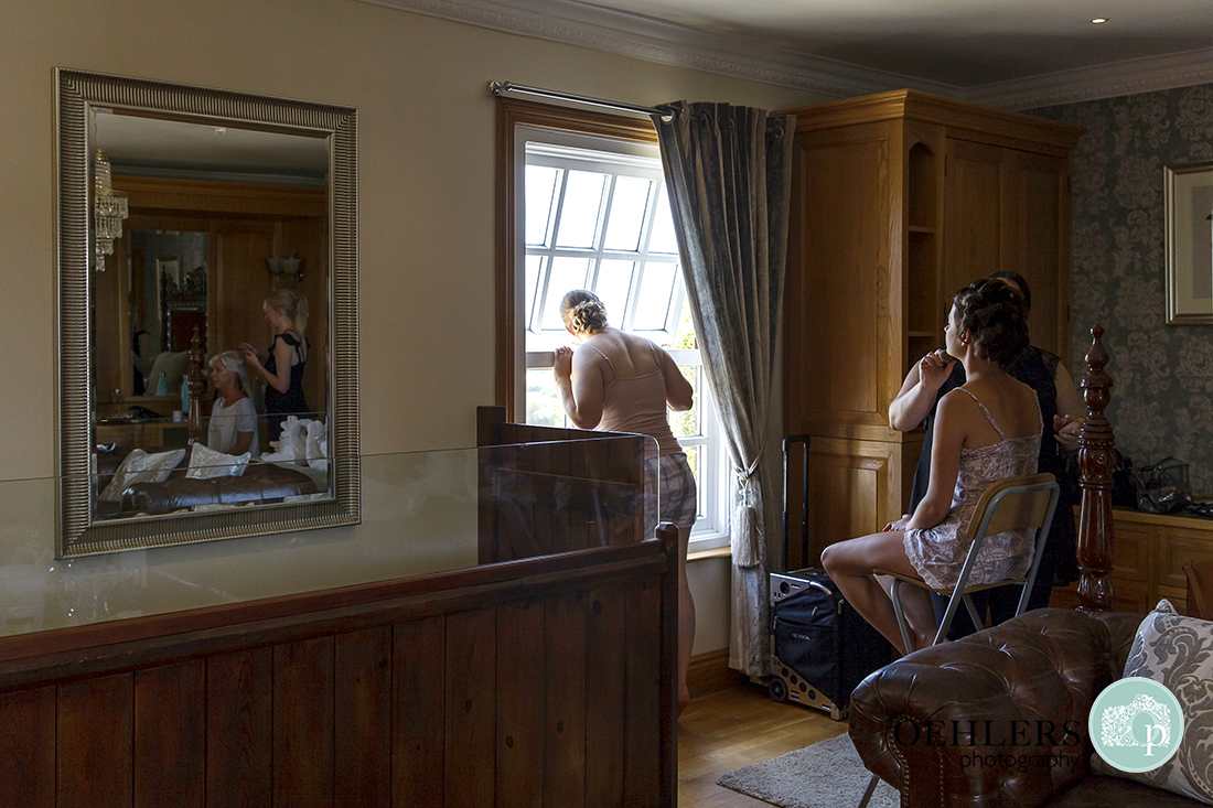 Swancar Farm Wedding Photography-Getting ready in the bridal suite