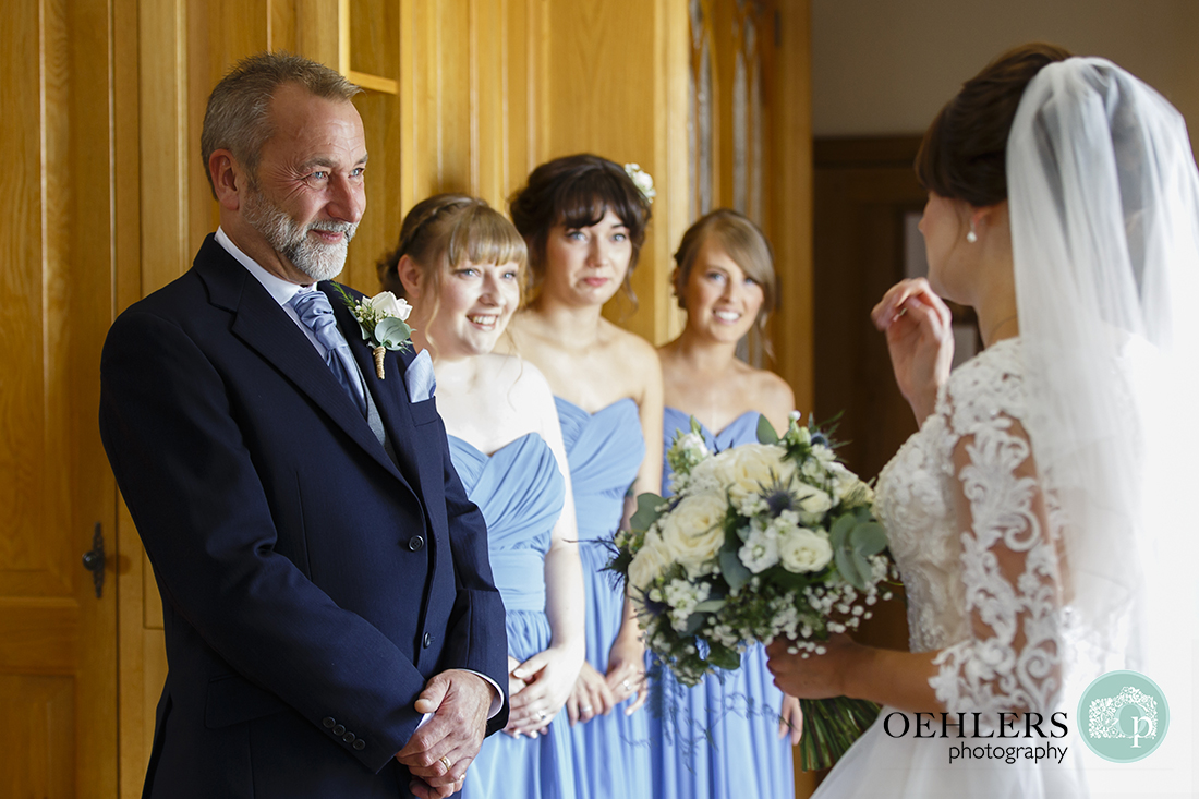 Swancar Farm Wedding Photography-dad looking proudly at his daughter the bride