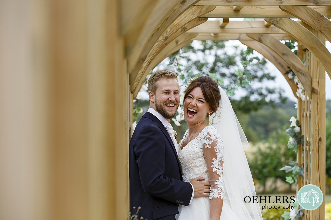 Swancar Farm Wedding Photography-Bride and Groom laughter