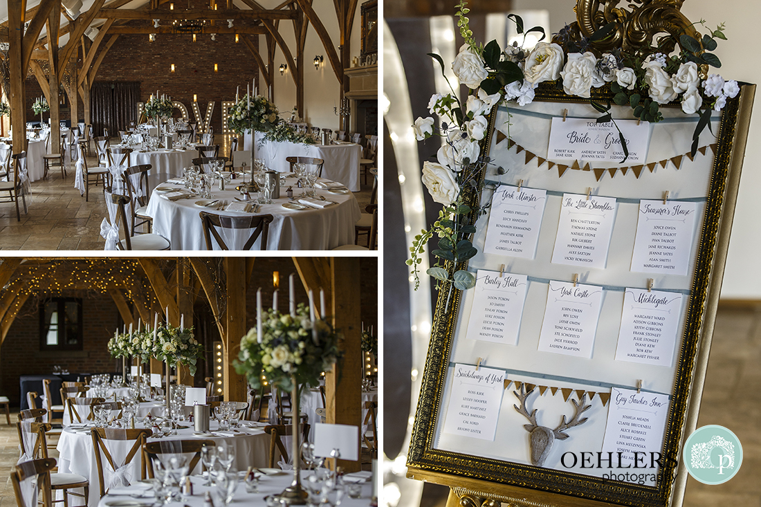 Swancar Farm Wedding Photography-Details of the wedding breakfast room