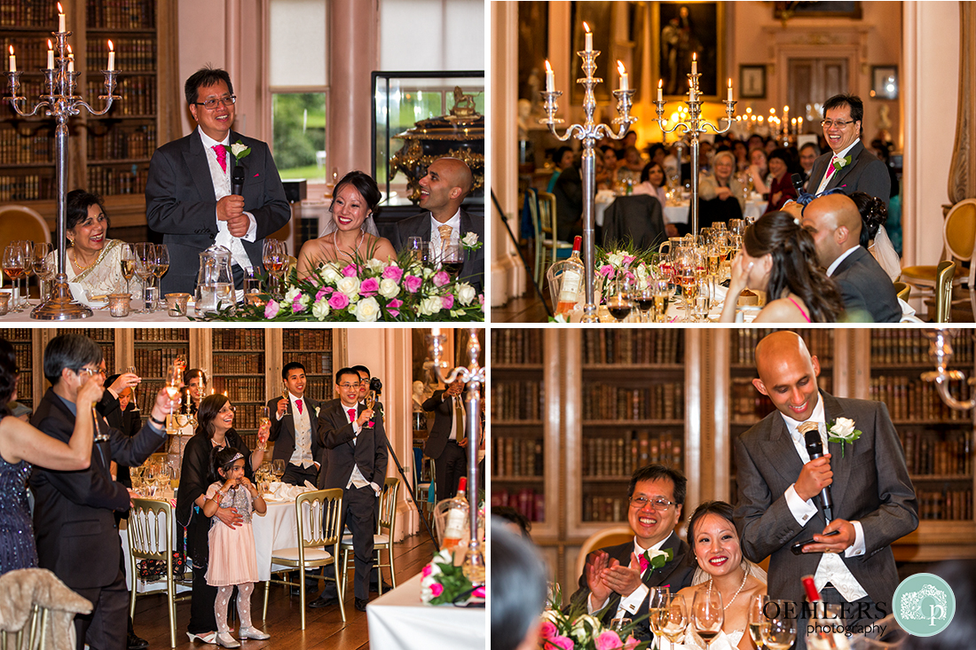 Montage of the wedding speeches at Castle Howard.