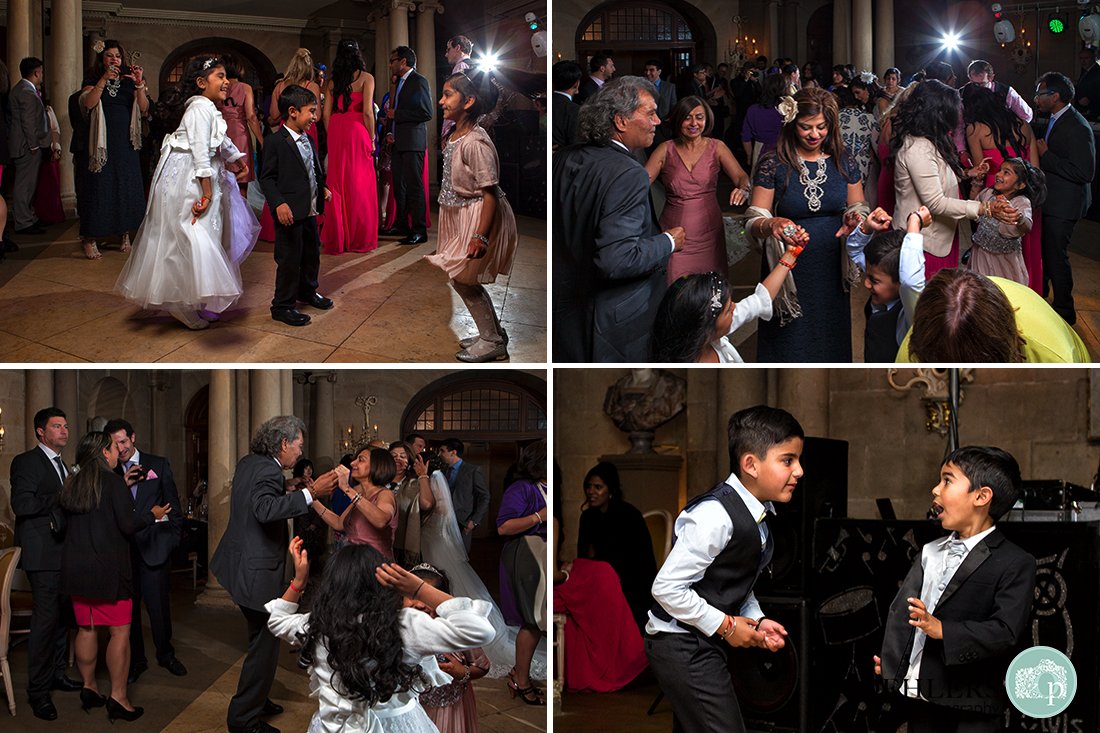 Montage of guests enjoying themselves dancing on the dance floor.