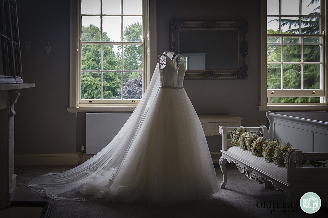 Wedding Dress displayed in the room