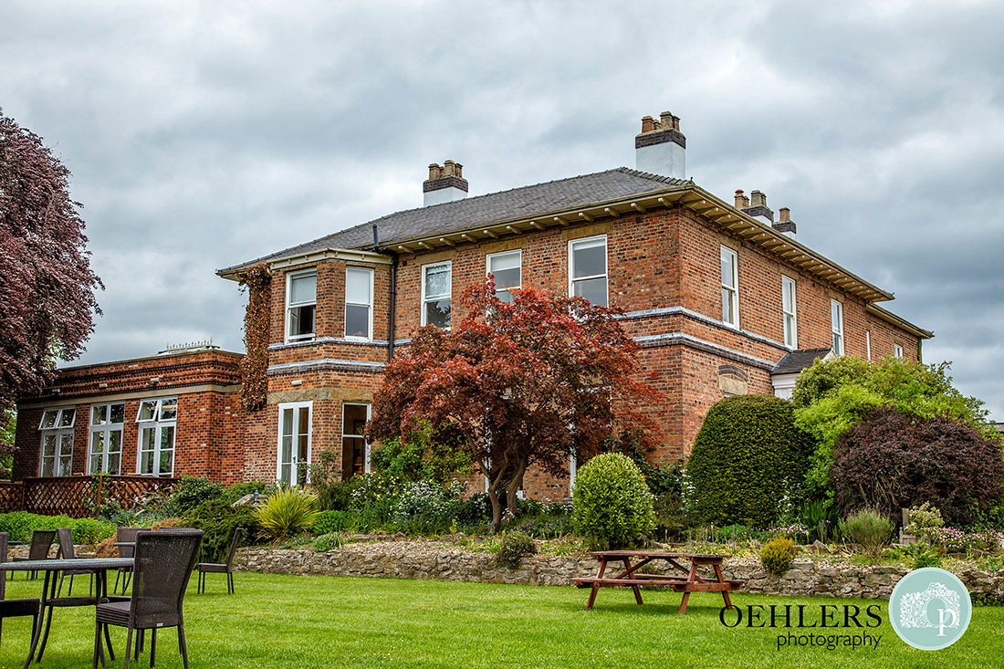 Shottle Hall Wedding Photography - Photograph of Shottle Hall from their lawn.