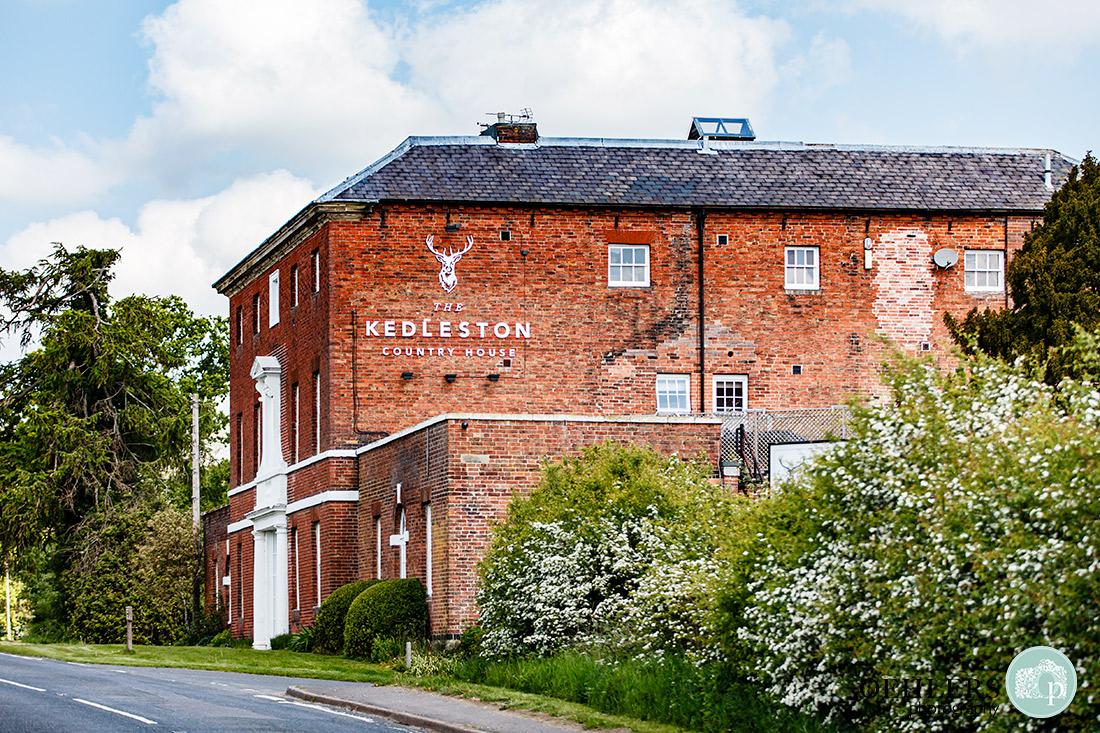 Kedleston Country House Photographers - fascade of the venue.