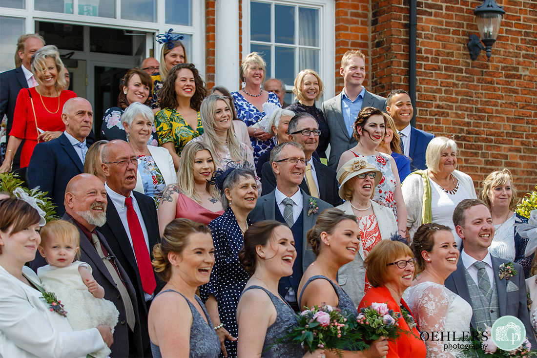 Kedleston Country House Photographers - side view of the big group shot.