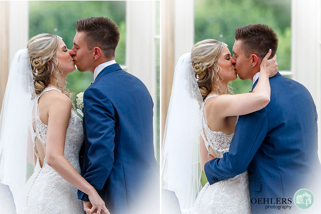 Photographs of the first kiss.