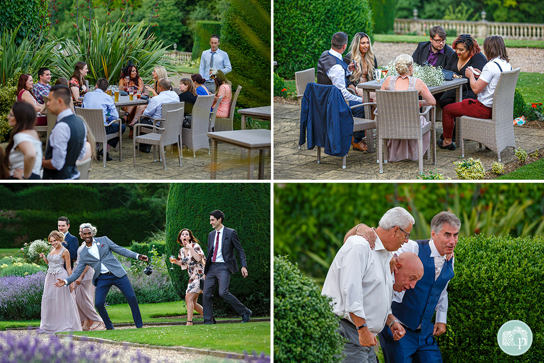 Guests enjoying the outdoors of the venue.