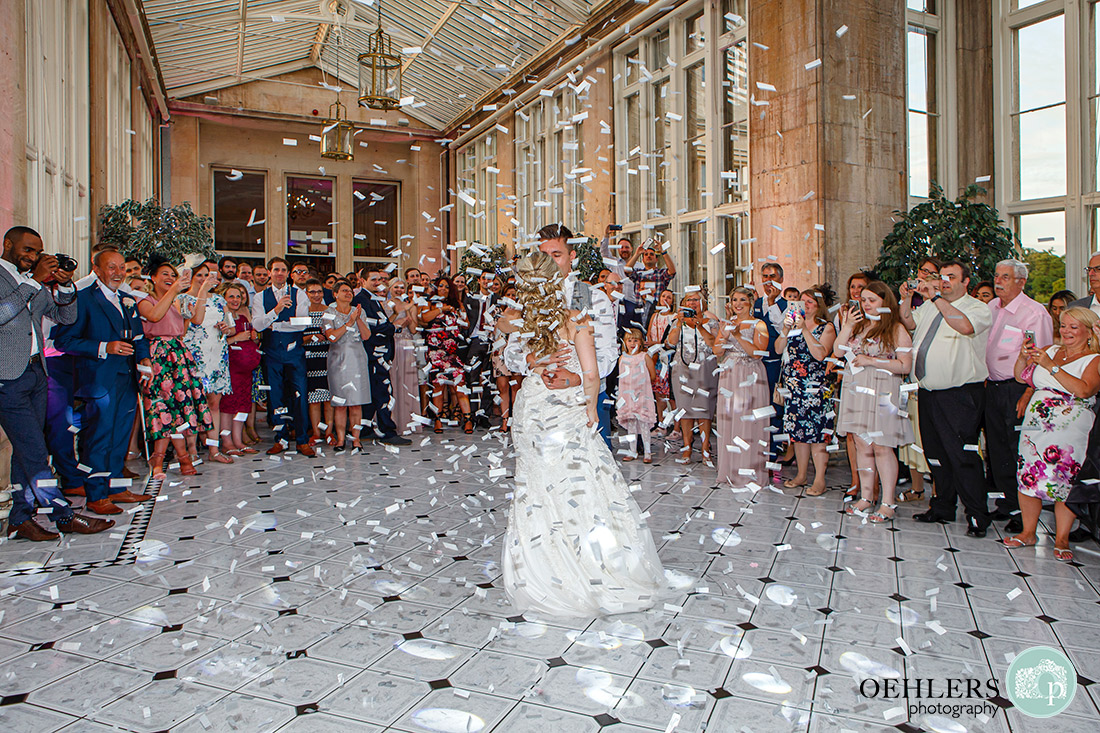 First dance with a confetti bomb.