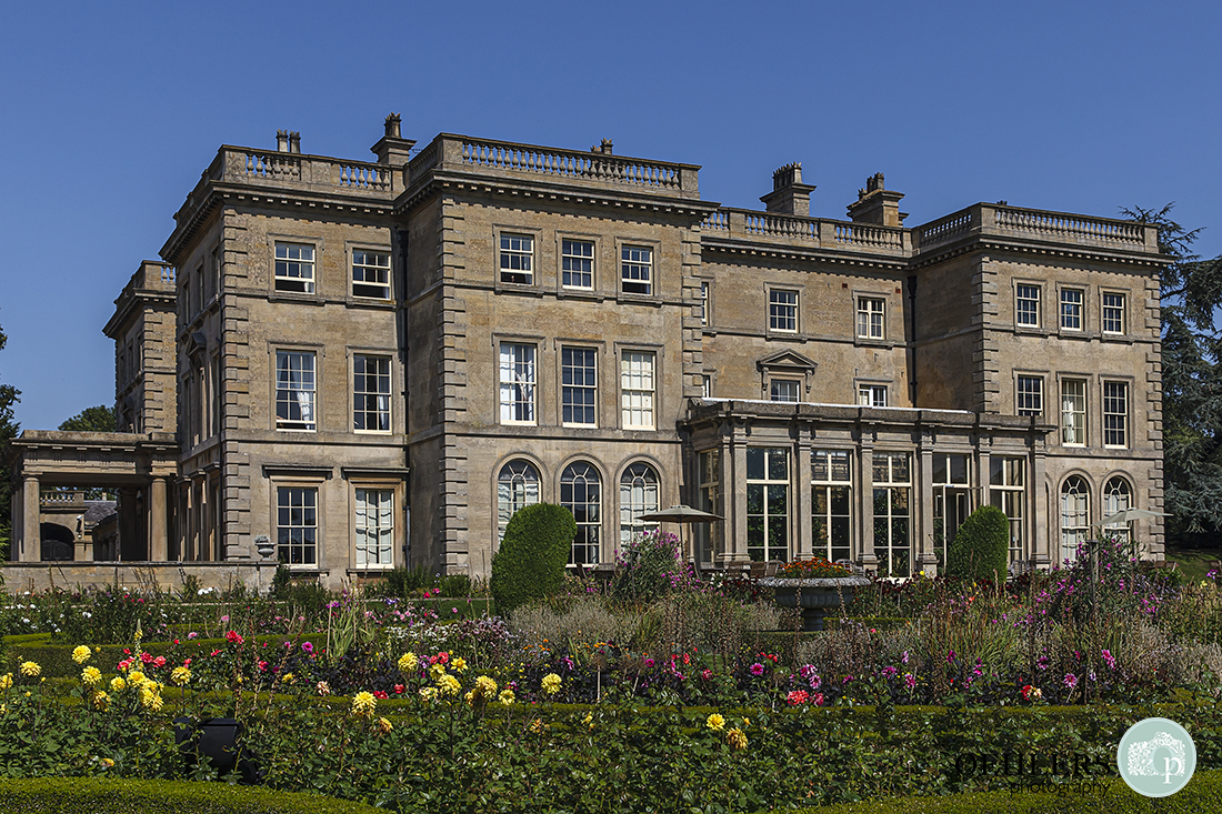 Front facade of Prestwold Hall