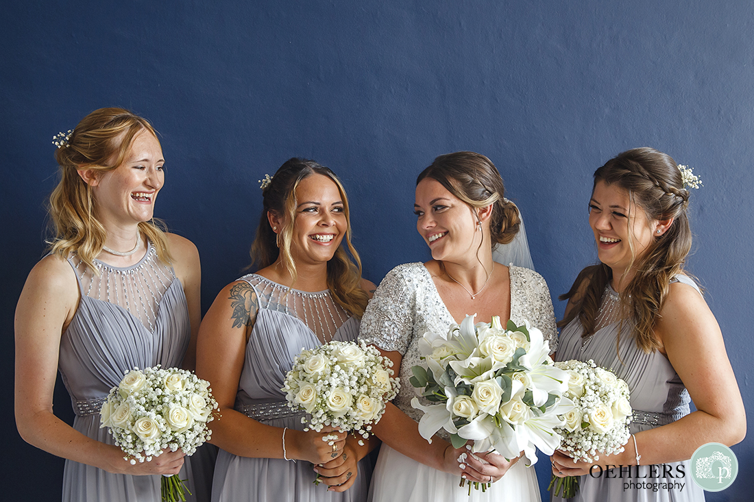 Beautiful Bride with her gorgeous bridesmaids.