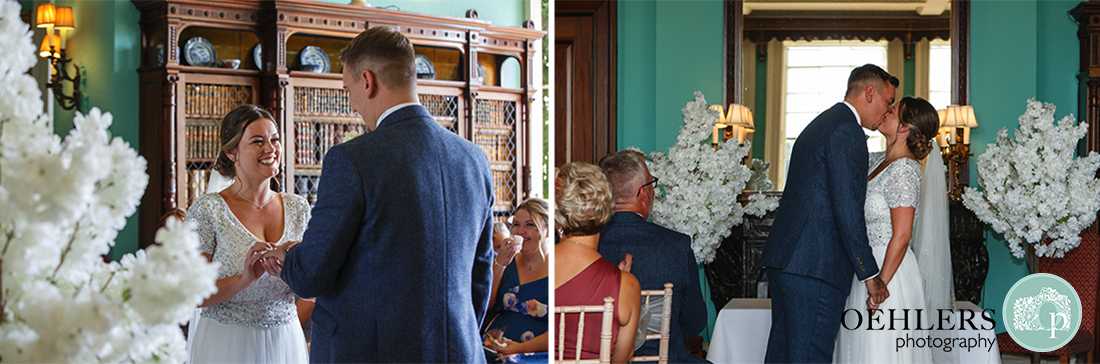 Wedding photographer at Prestwold - Images stating they are now married.