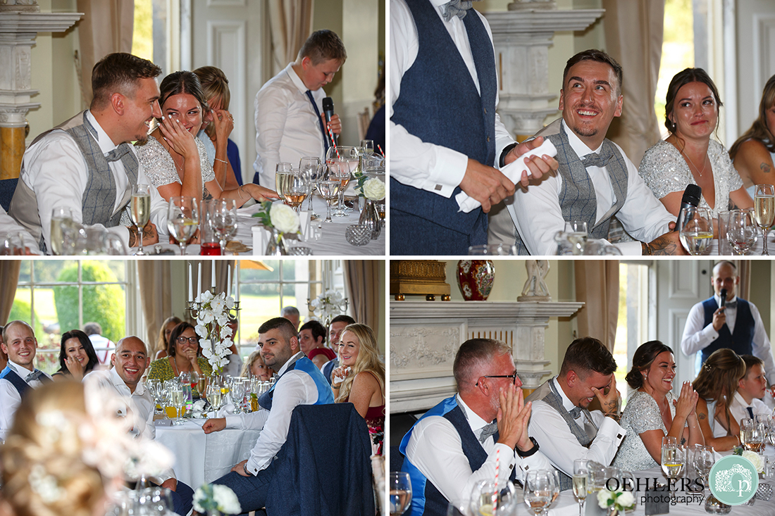 Prestwold Hall Wedding Photographs - Emotions at the speeches.