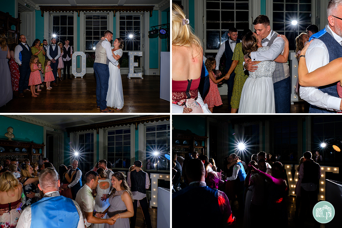 Prestwold Hall Wedding Photographs - The first dance and celebrations on the dance floor.