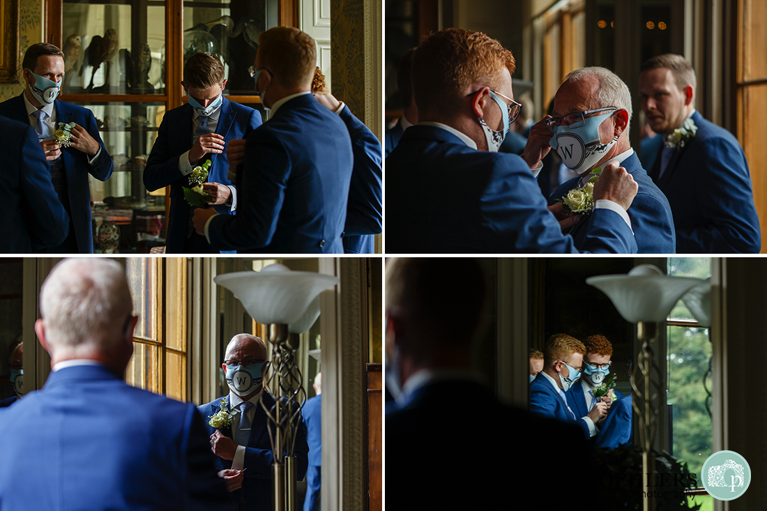 button holes at wollaton hall wedding