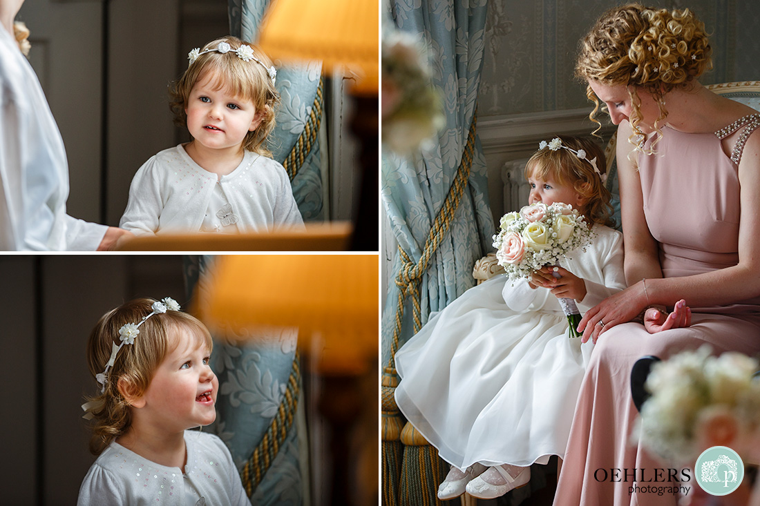 norwood park wedding preparations - lovely photographs of the cute flower girl