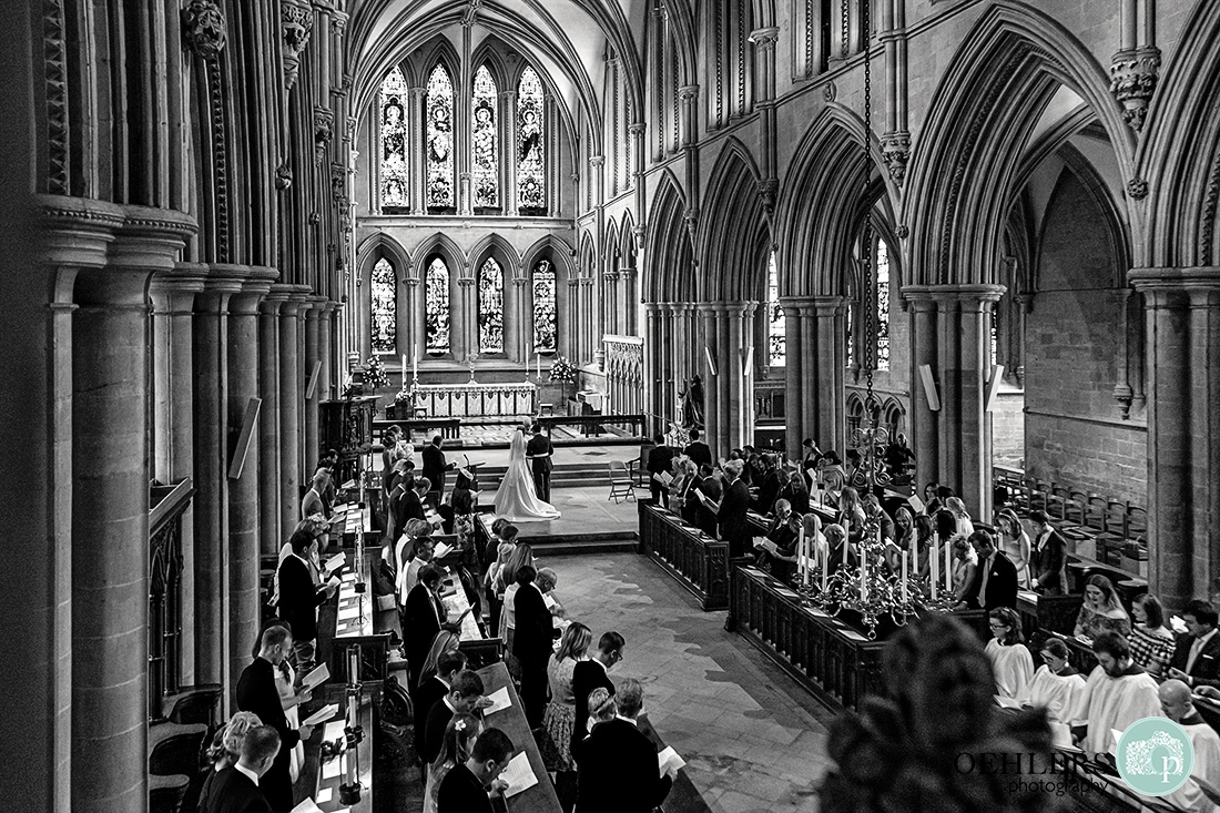 High view looking down towards the Sanctuary and High Altar of Southwell Minster
