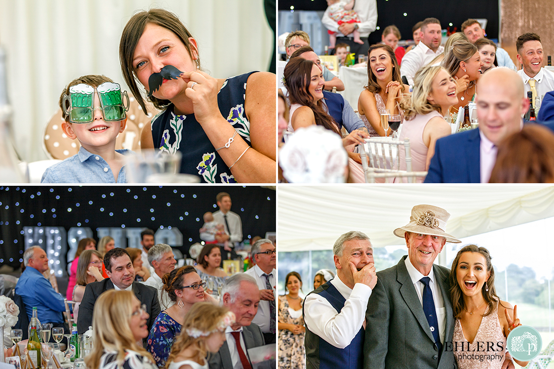 multiple images of guests enjoying themselves