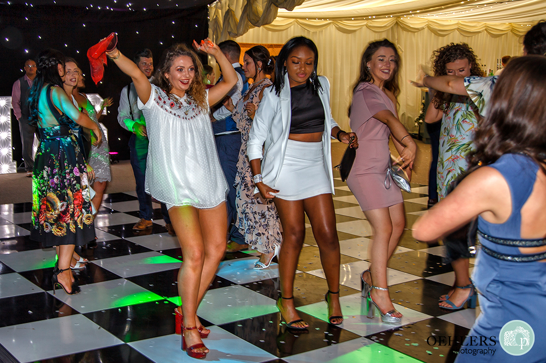 Guests enjoying themselves on the dance floor